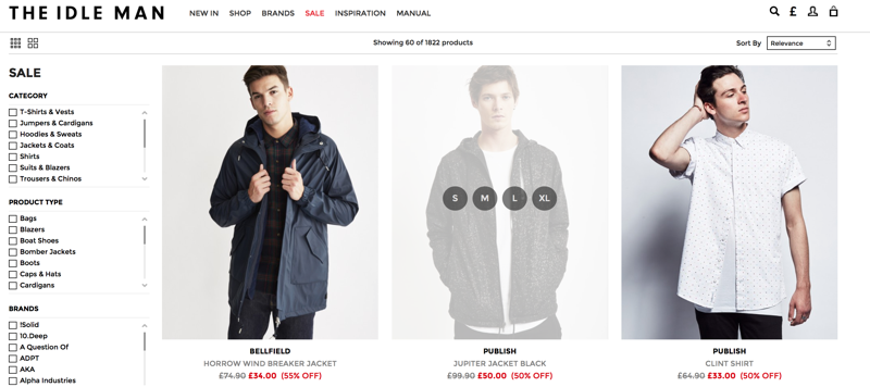 The Idle Man: Sale up to 70% off men clothing