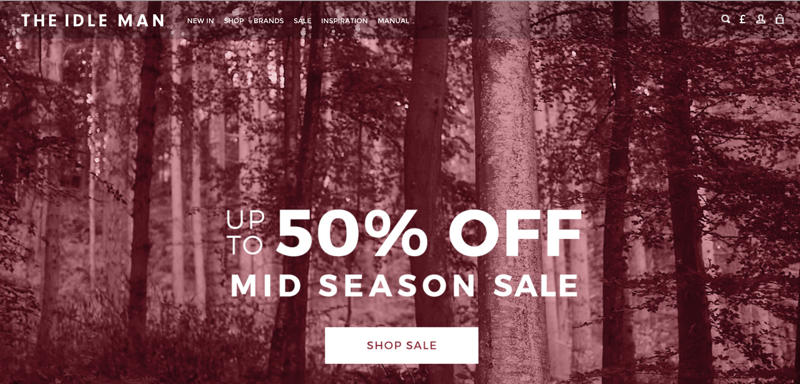 The Idle Man: Mid Season Sale up to 50% off