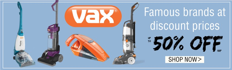 TJ Hughes: up to 50% off VAX electricals