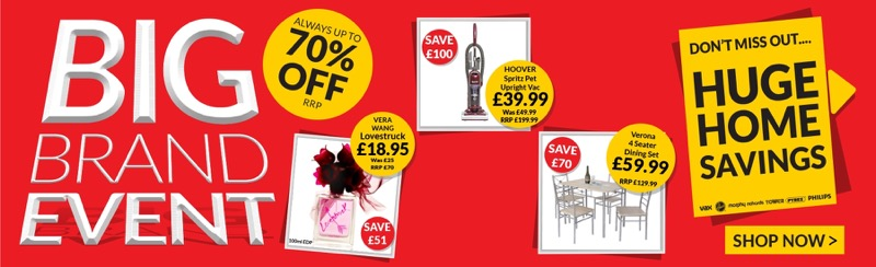 TJ Hughes: up to 70% off small appliances and home gadgets