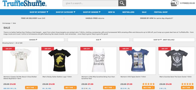 Truffle Shuffle: Sale up to 40% off clothing