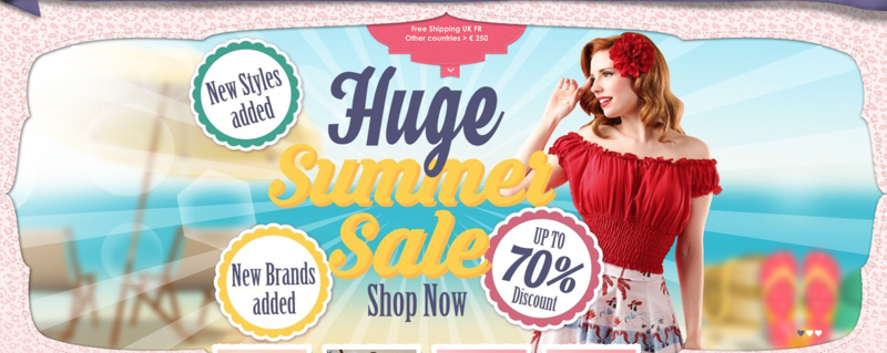 Top Vintage: Summer Sale up to 70% off across ladies clothing