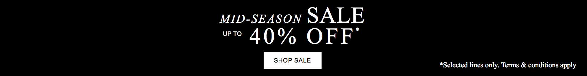 The White Company: Mid Season Sale up to 40% off
