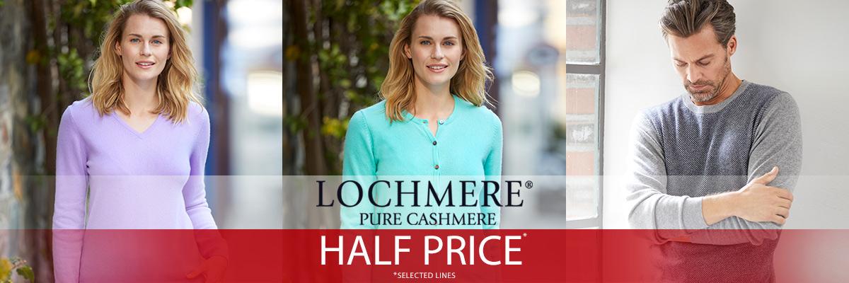 The Edinburgh Woollen Mill: Sale 50% off cashmere jumpers