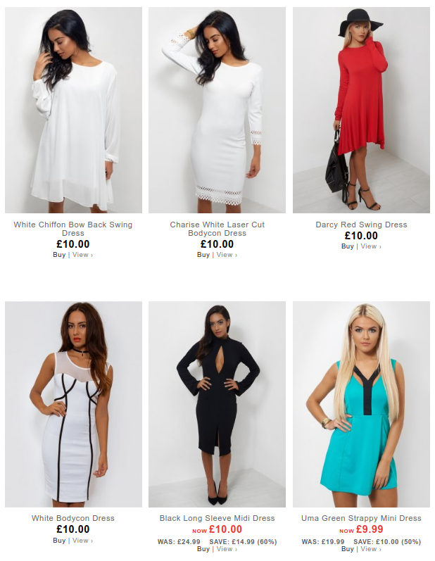The Fashion Bible: selected dresses £10 and under