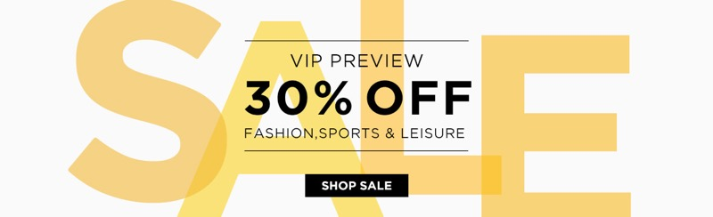 The Hut: Sale 30% off fashion, sports and leisure