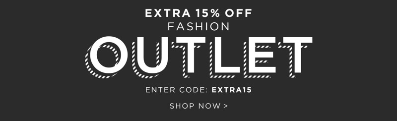 The Hut The Hut: extra 15% off fashion outlet