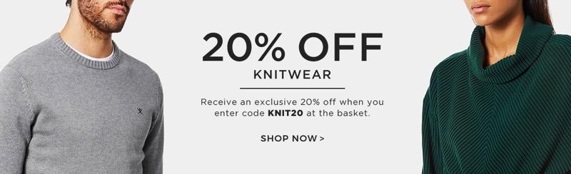 The Hut The Hut: 20% off knitwear