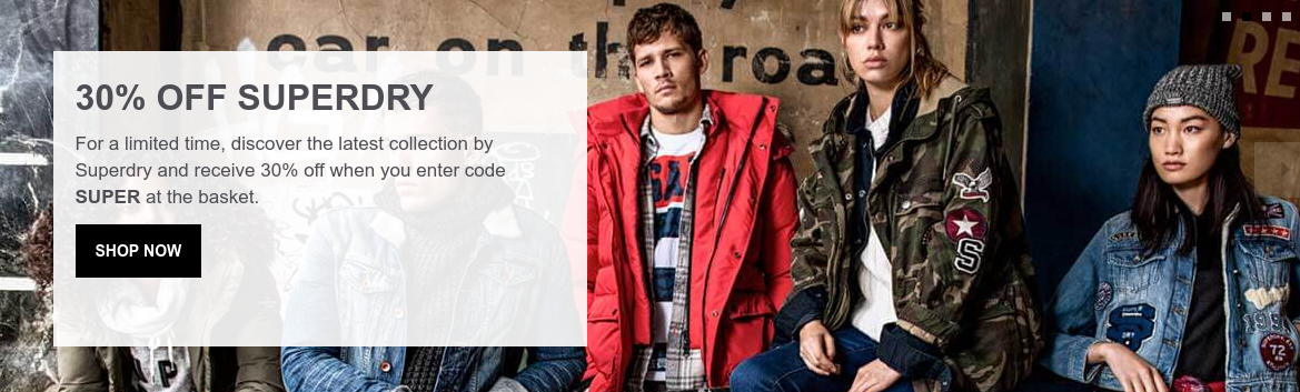 The Hut: 30% off Superdry collection