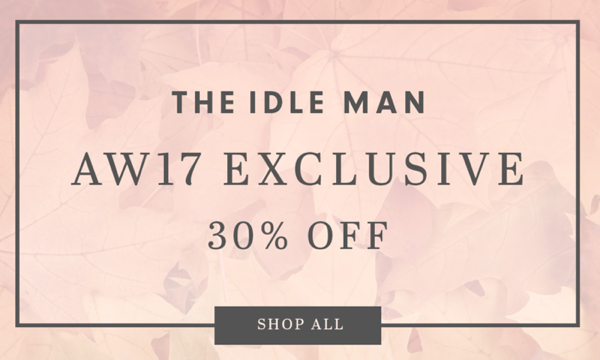 The Idle Man The Idle Man: 30% off men's clothing