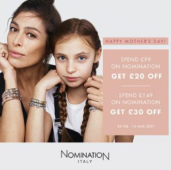 The Jewel Hut: get £30 off when you spend £149 on Nomination Italy Jewellery