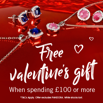 The Jewel Hut: free Valentine's gift when spending £100 or more