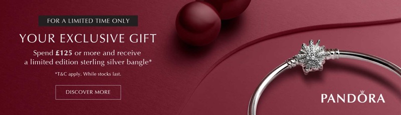 The Jewel Hut: spend £125 or more and receive a limited edition sterling silver bangle