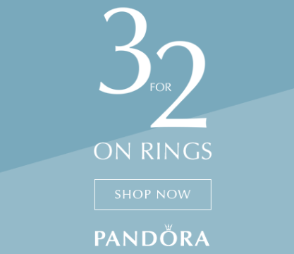 The Jewel Hut: 3 Pandora rings in the price of 2