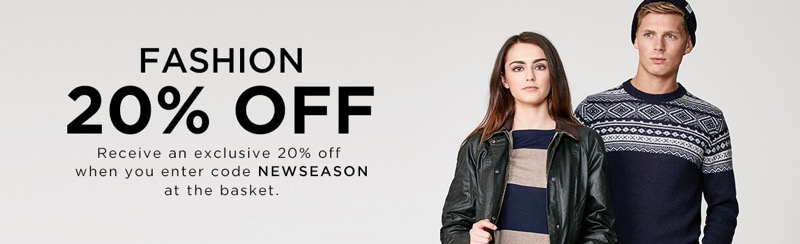 The Hut The Hut: 20% off ladies and gents fashion