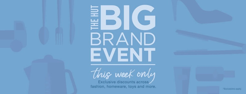 The Hut: up to 80% off clothing, homeware and beauty