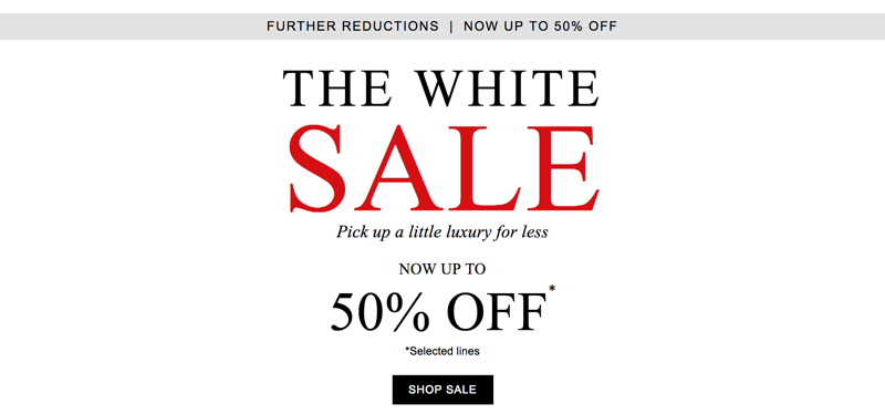 The White Company: Sale up to 50% off clothing, fragrance, furniture and accessories