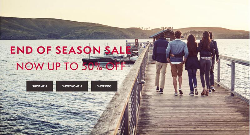 Timberland: season sale up to 50% off