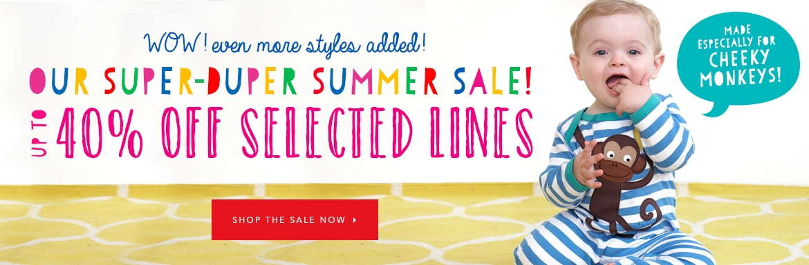 Toby Tiger: Sale up to 40% off selected kidswear