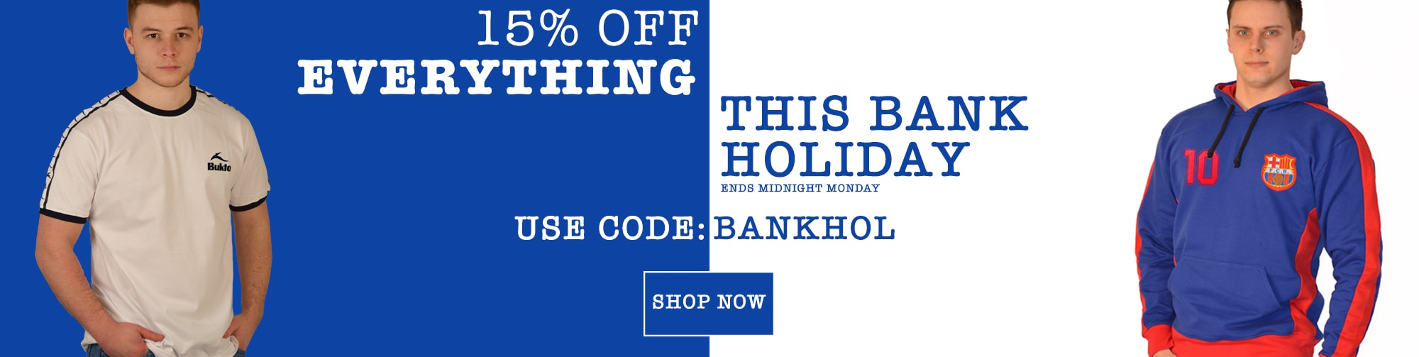 Toffs: Bank Holiday promotion 15% off everything