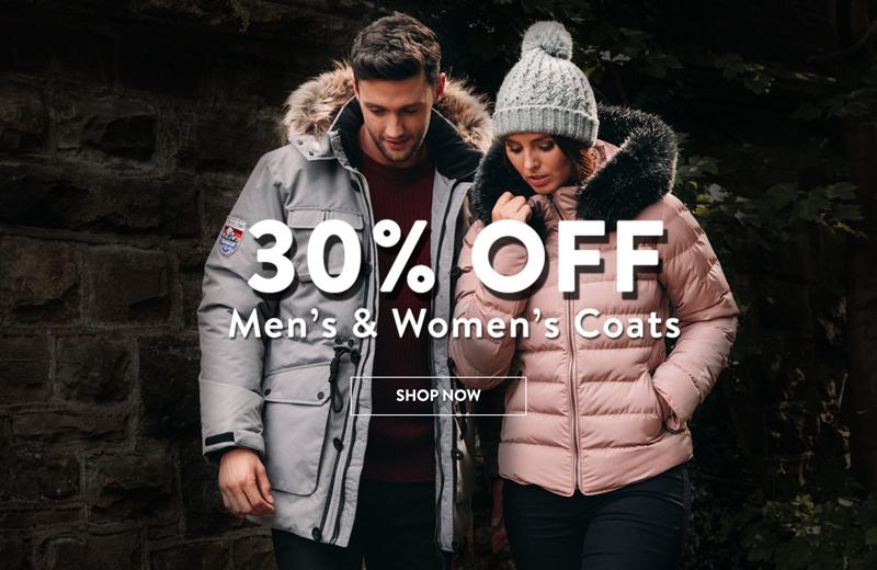 Tokyo Laundry: 30% off women's and men's coats