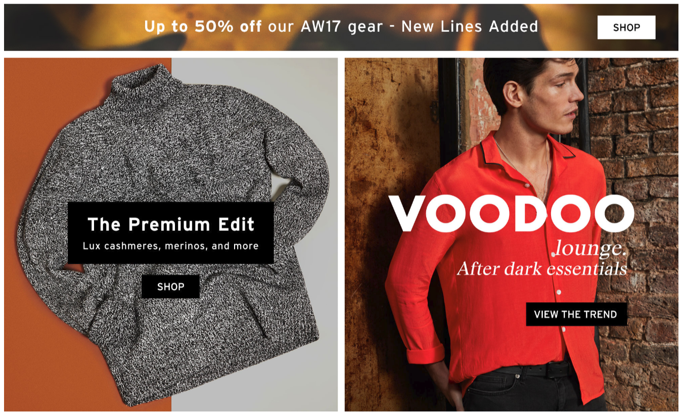 Topman: up to 50% off mens fashion