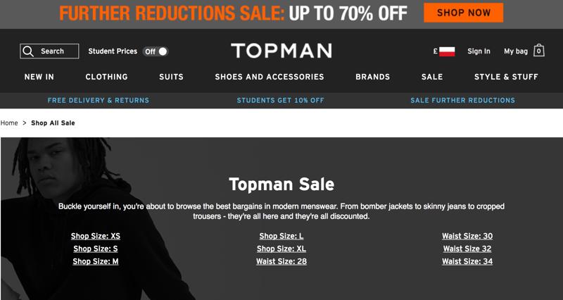 Topman Topman: Sale up to 70% off men's fashion