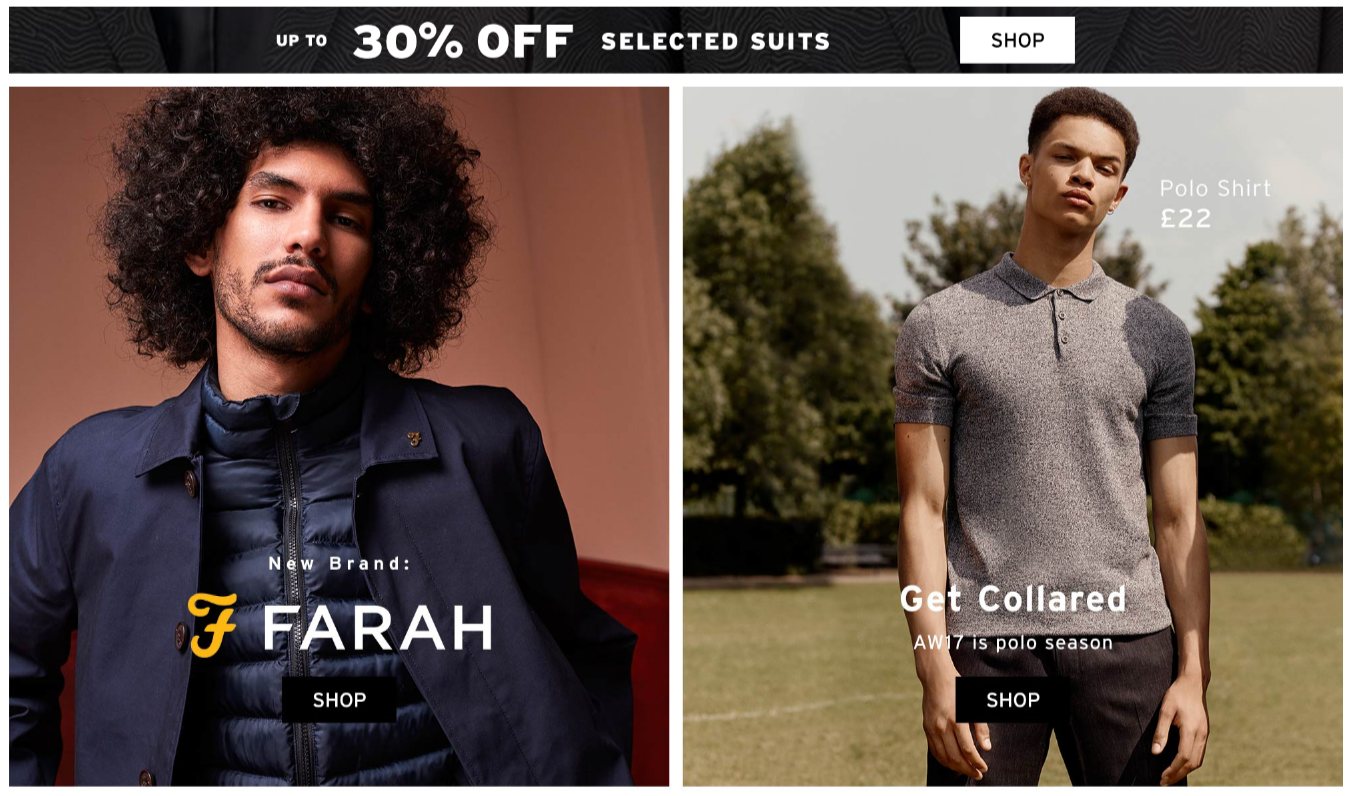 Topman: up to 30% off selected suits