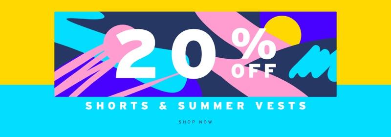 Topman Topman: 20% off shorts & summer vests