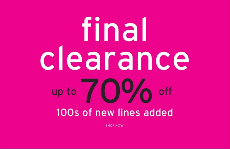 Topshop: Final Clearance up to 70% off ladies fashion