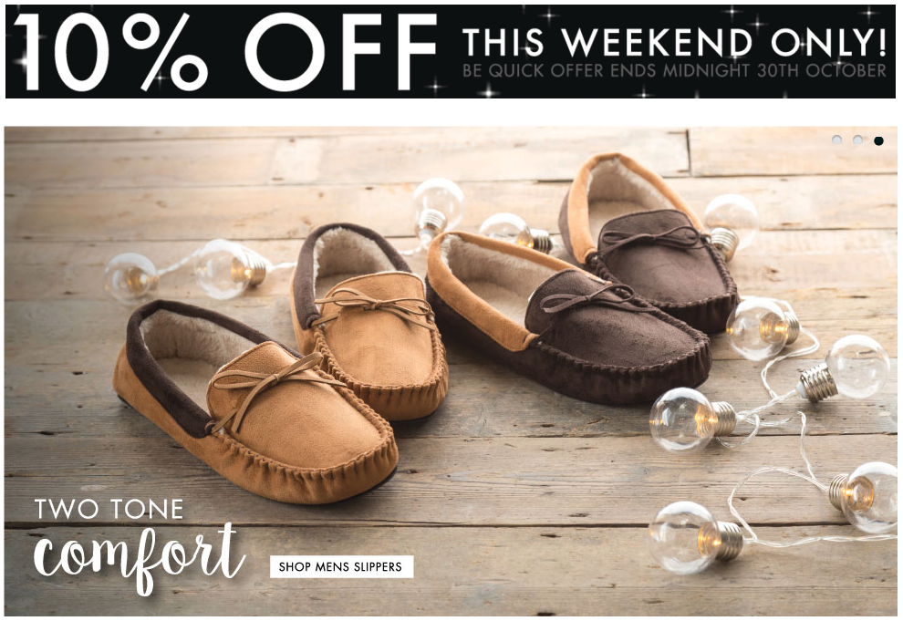 Totes ISOTONER: 10% off slippers, socks, umbrellas and gloves