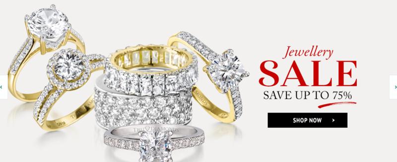 Tru Diamonds: Sale up to 75% off jewellery