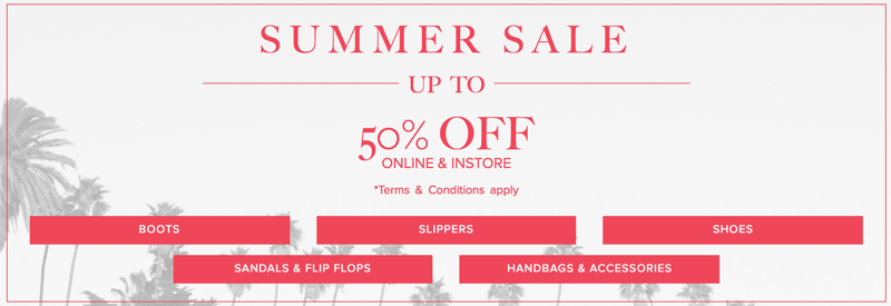 UGG: Summer Sale up to 50% off shoes, handbags & accessories