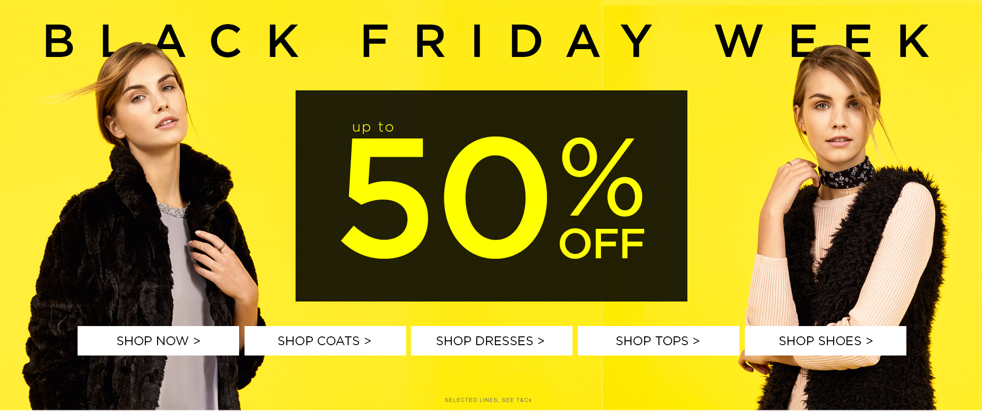 Black Friday Dorothy Perkins: up to 50% off clothing