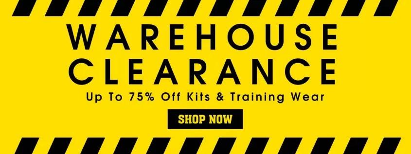 UKSoccershop: Sale up to 75% off kits and training wears