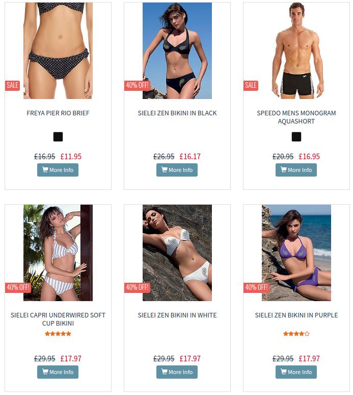 UK Swimwear: Sale up to 50% off swimsuits, bikinis and beachwear