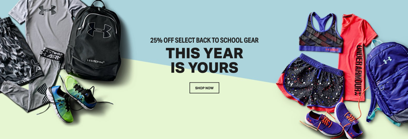 Under Armour Under Armour: 25% off clothing, shoes and accessories