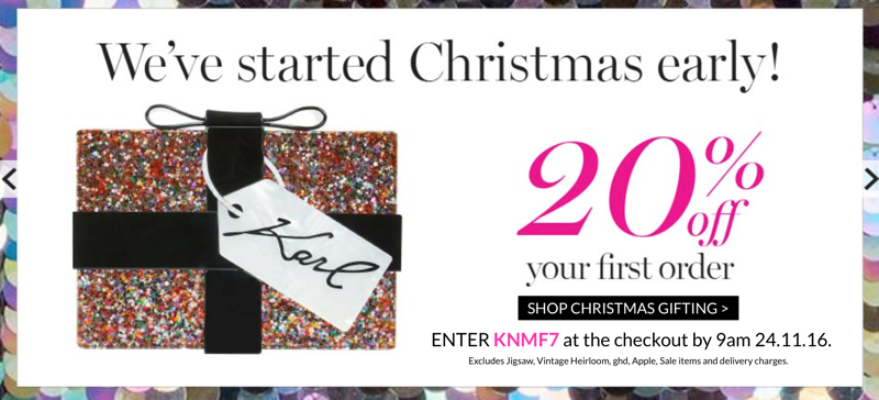 Very Exclusive: 20% off your first order