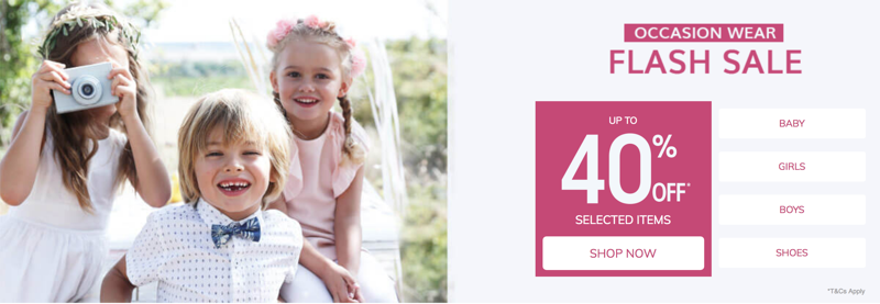 Vertbaudet Vertbaudet: Sale up to 40% off baby, kids and children clothing