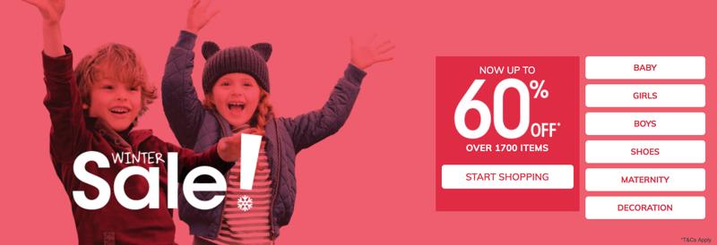 Vertbaudet: Winter Sale up to 60% off baby, kids and children fashion
