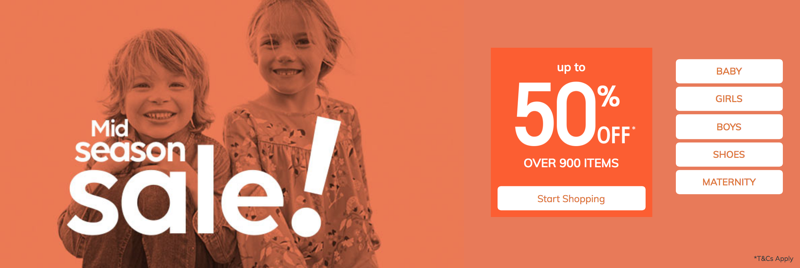 Vertbaudet: Mid Season Sale up to 50% off baby, kid's and children's fashion