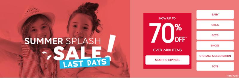 Vertbaudet: Summer Sale up to 70% off baby, kids and children fashion