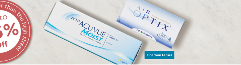 Vision Direct: up to 45% off contact lenses