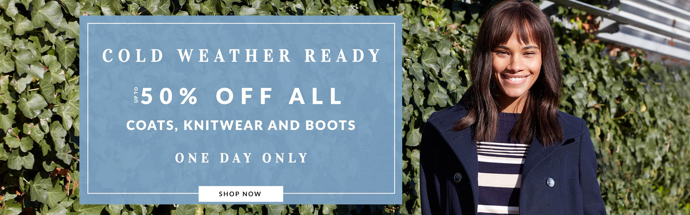Wallis: Sale up to 50% off all coats, knitwear and boots