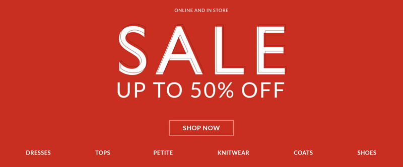 Wallis Wallis: Sale up to 50% off women's clothing