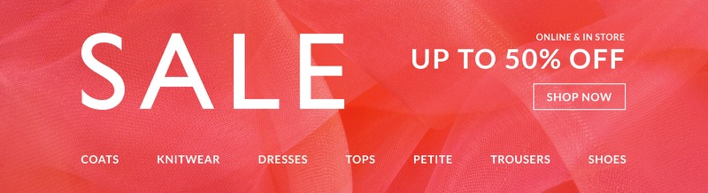 Wallis: Sale up to 50% off women's clothing