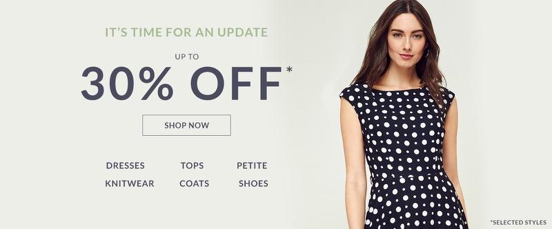 Wallis Wallis: 30% off women's clothing