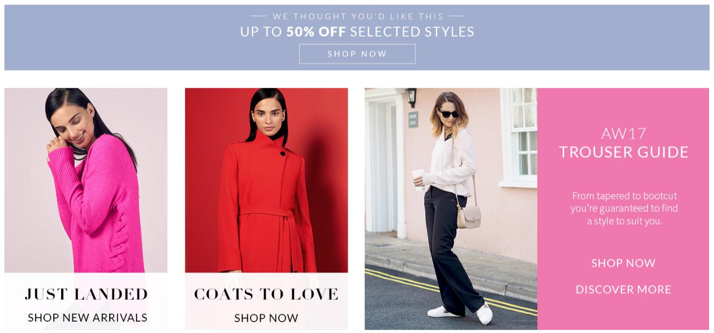 Wallis Wallis: up to 50% off women's clothing