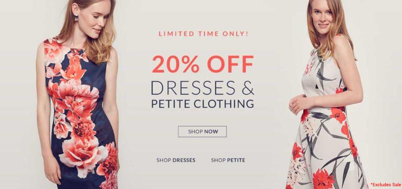 Wallis Wallis: 20% off dresses & petite clothing