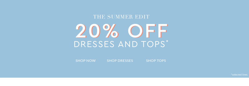 Wallis Wallis: 20% off dresses and tops